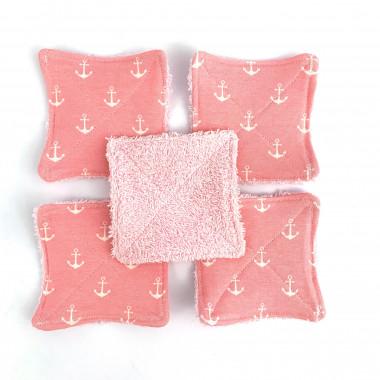 Abschminkpads Anker rosa